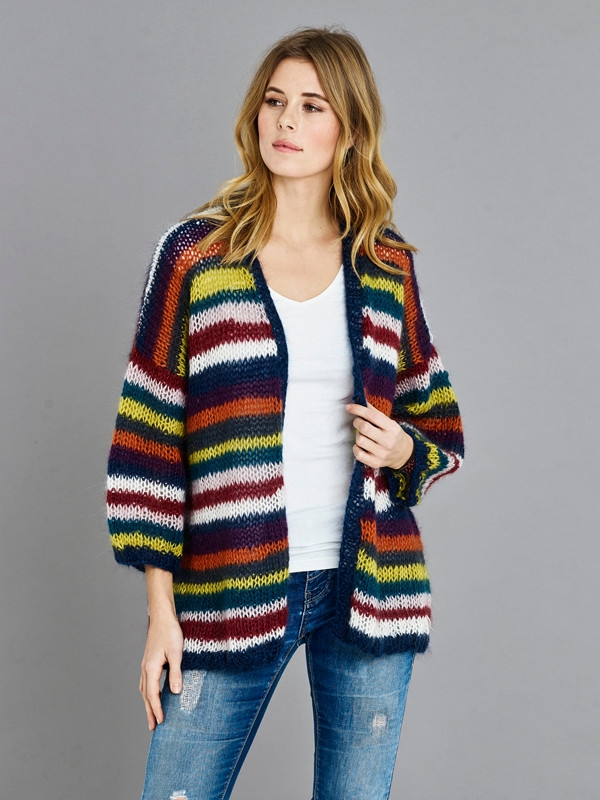 Cardigan fra Onion Knit i Mohair+Wool