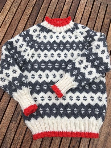 Islandsk Sweater str. 4-14 år