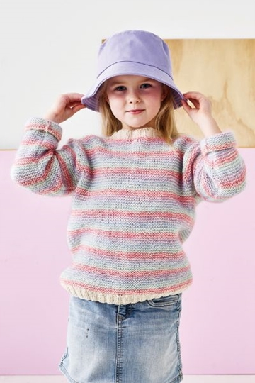 Retstrikket sweater i Ellen og Kid Silk